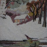 Detail of Hooked Rug - George Edward Trembley - 1950's