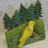 Yellow Bird and Trees - Charlie Poirier