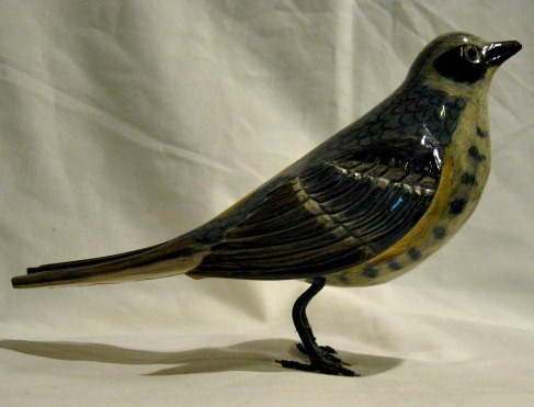 Yvon Cote. Carving of a Warbler.