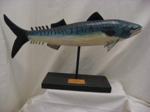 Carving of a Fish by Bill Roach, Cheticamp. Cape Breton, Nova Scotia.