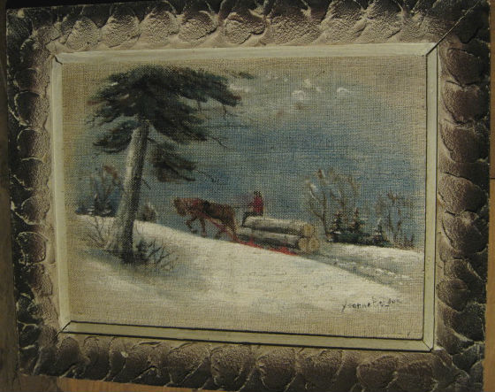 Yvonne Bolduc. Baie-Saint-Paul, Quebec. Oil Painting. C. 1950.