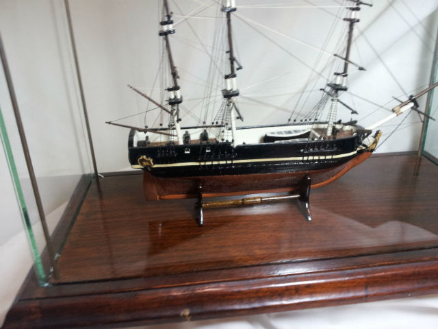 Detail of Carmicheal model HMS Bounty