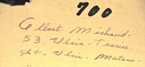 Albert Michaud. His mark.