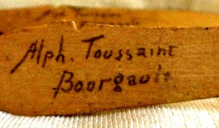 Alphpnse Toussaint Bourgault. His mark.