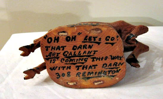 Art Gallant. Carving of a Deer. With his words.