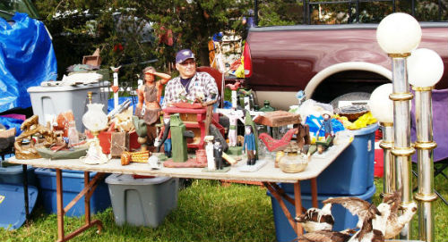 Emile Bluteau at play. Lachute flea market 2006