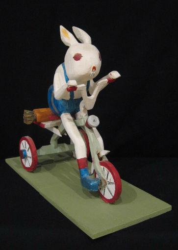 Ernie Meyers. Dieppe New Brunswick. Tricycle Rabbit.