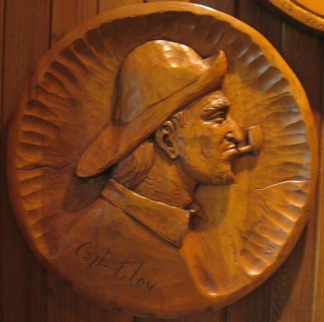 Jean-Julien Bourgault. Relief carving Capt. Tilou. 1981.