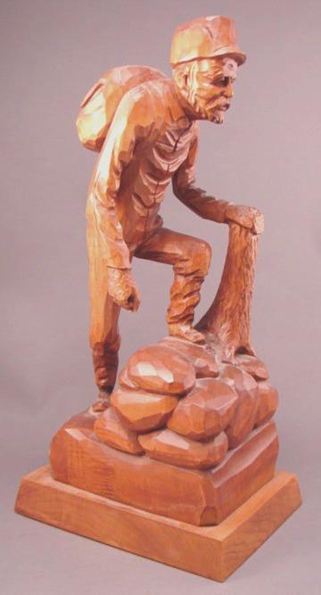 Jocelyn Caron. Carving of a Hiker.