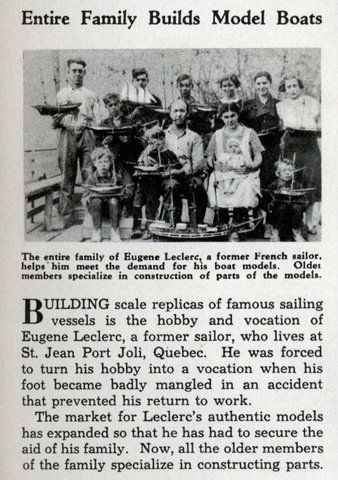 Leclerc Family. Image from Modern Mechanix issue of 1936