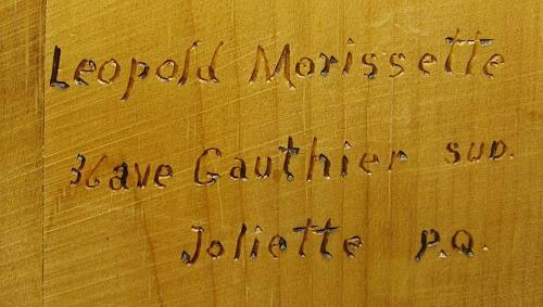Leo Morissette. Joliette, Quebec.