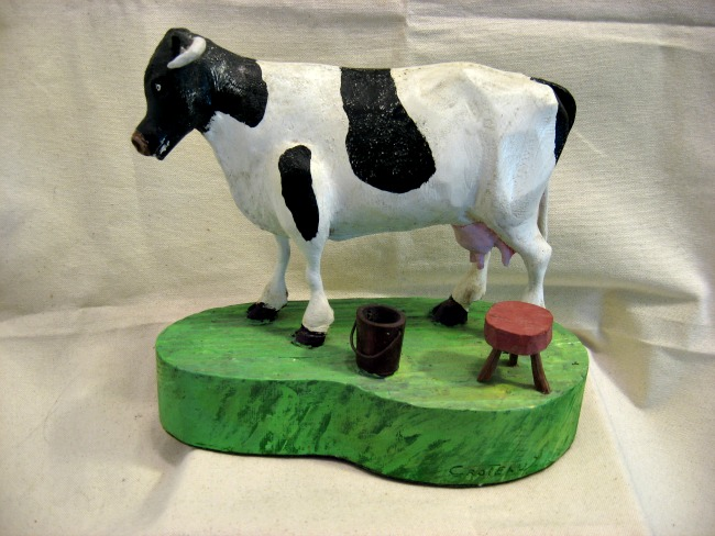 Leonard Croteau. Carving of a Holstein Cow.