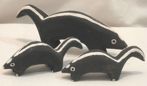 Magella Norman. Ap-Au-Os Quebec. Skunk Family.