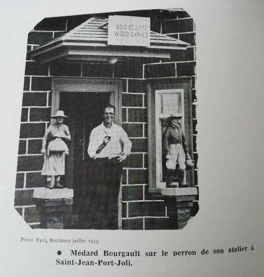 Medard Bourgault in front of his Studio