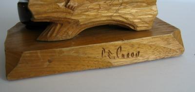 P. E. Caron. His mark.