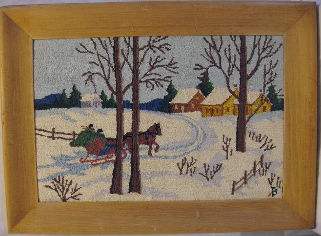Aurore Benoit. Saint-Hyacinthe, Quebec. Silk and Cotton Hooked Mat.