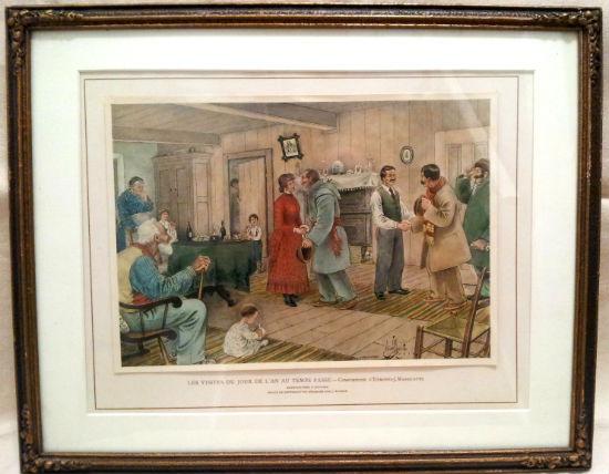 Edmond Massicotte. Les Visites du Jour D'Lan au Temps Passe. 1928.