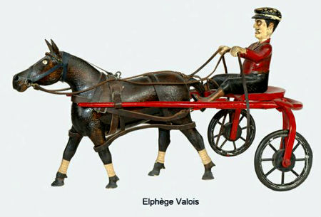 Elphage Valois. Woodcarver. Victoriaville, Quebec. Sulky and Rider.