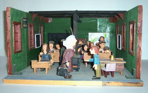 Fenton Dukeshire. Sculptor. Nova Scotia. Schoolroom diorama.