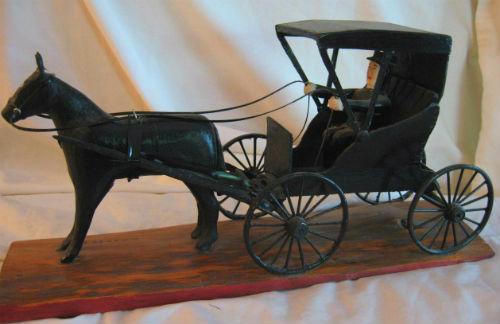 Gordon Law. Oshawa, Ontario.Horse and Buggy.