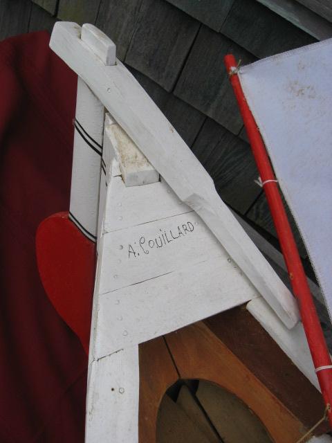 A. Couillard. Gaspe. Sculptor. Model boat.