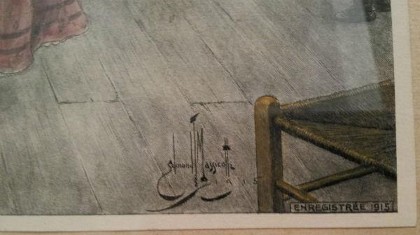 Massicotte Print. Une Viellee....detail.