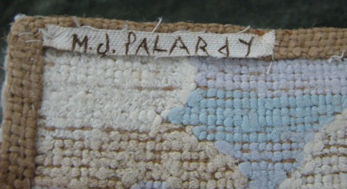 Palardy design. Detail of the label on the reverse.