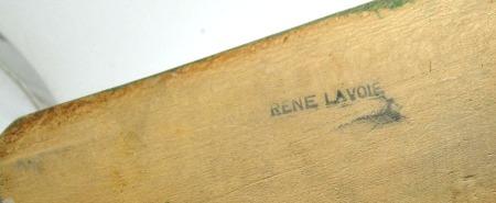 Rene Lavoie. His mark.