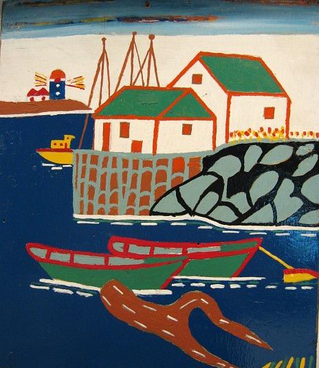 Albert Deroy. Harbor Scene.