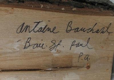Antoine Bouchard. His mark.