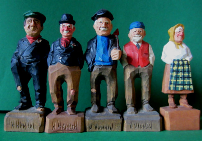Howard Hannah. Verdun, Howick, Quebec. A Group of Carvings. Photo by Mark Zannis.