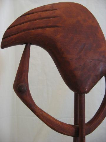 Leo Fournier. Detail of a carving made for The Au Fond du Coeur Show. 1984.