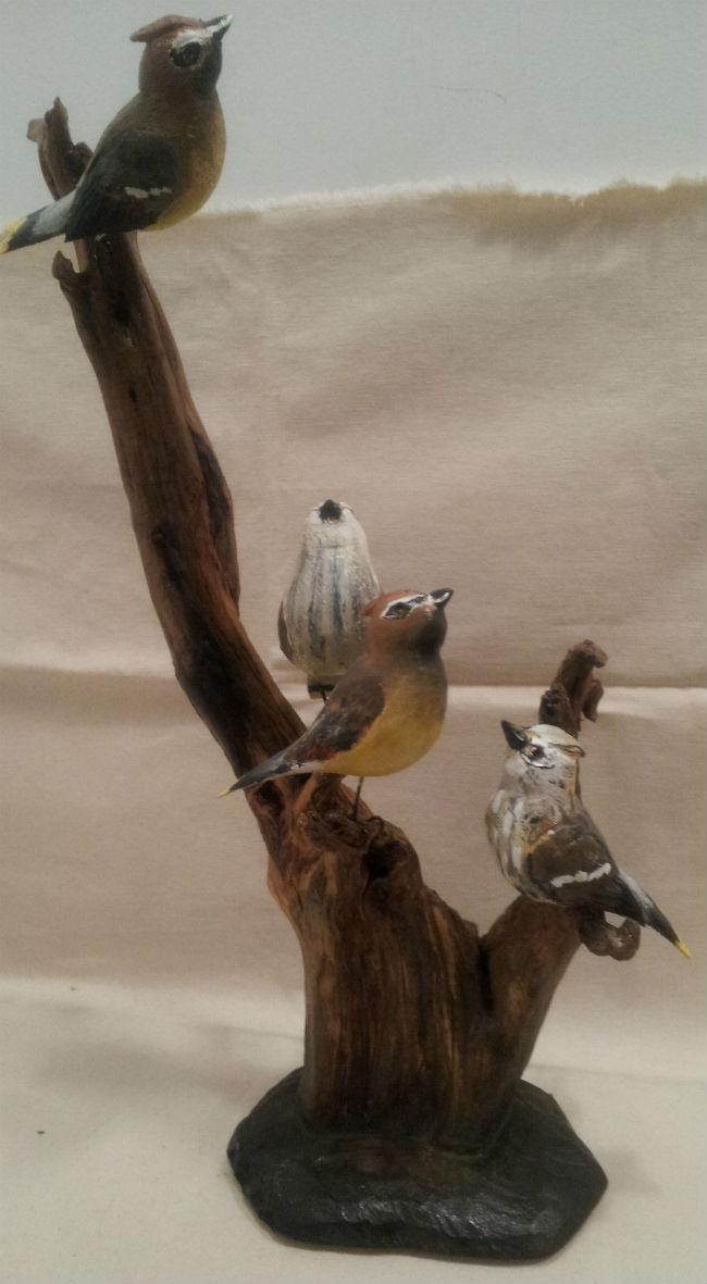 Leonard Croteau. St-Etienne-des-Gres, Quebec. Bird Tree.