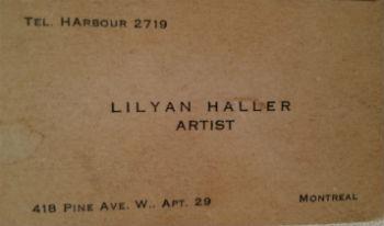 Lilyan Haller. Montreal Quebec.