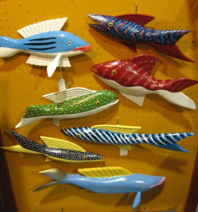 Mark Robichaud. Belliveau's Cove Nova Scotia. A display of Fish.