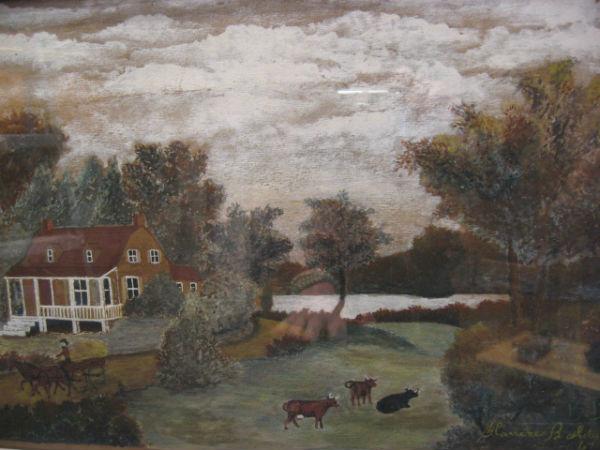Blanche Bolduc. Painter. Baie-Saint-Paul, Quebec.1960's. Oil on paper.