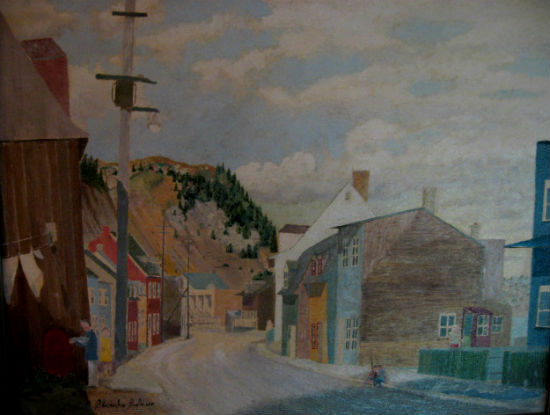 Blanche Bolduc. Champlain Street Cape Diamond Quebec City. 1956.