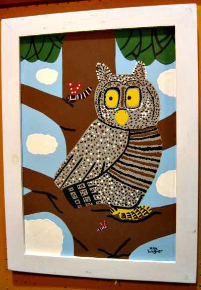 Hika Wagner. Owl and Dragon Flies. Weymouth, Nova Scotia.