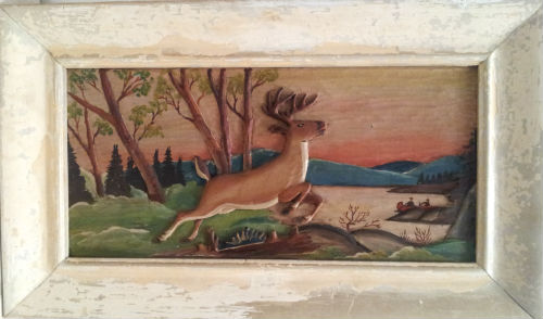J.P.Clement. St. Adele Quebec. Bas Reliel A Deer in the Laurentians. 1930's.