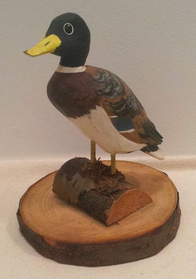 Robert Toussaint. Wood carver. Trois Saumons Quebec. 2