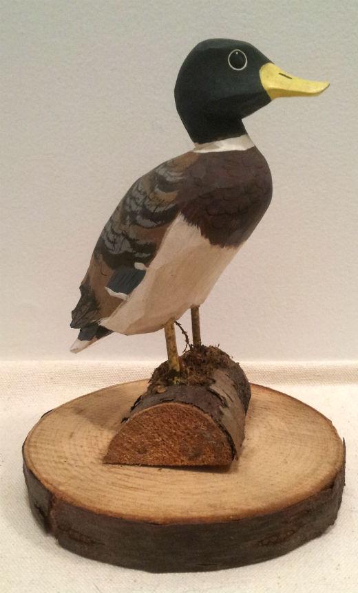 Robert Toussaint. Wood carver. Trois Saumons Quebec.