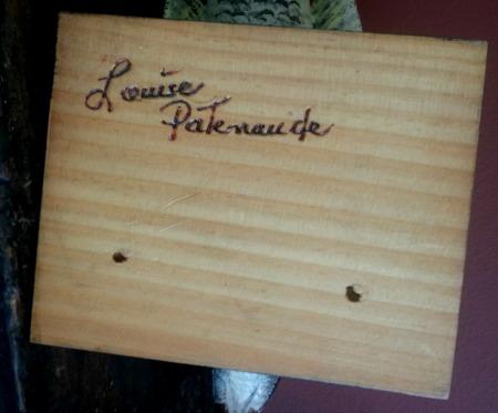 Louise Patenaude. Detail of her mark.