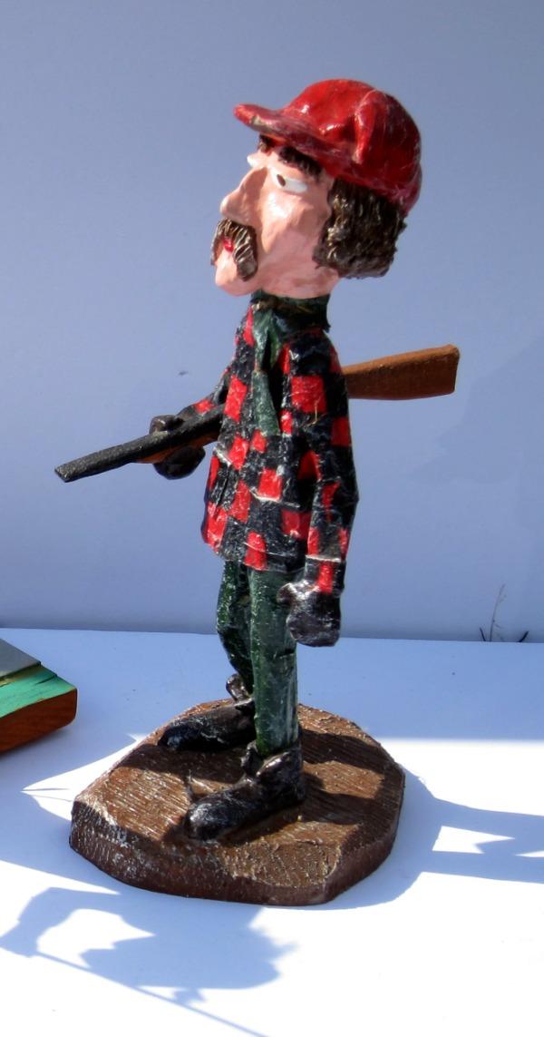 Paul Bernier. Sculptor. Quebec. The Woodsman. C. 1995.