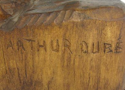 Arthur Dube. His mark.