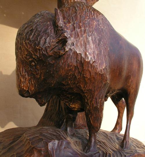 Arthur Dube. Carving of a BUffalo.
