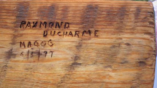 Raymond Ducharme. Magog, Quebec. His mark.