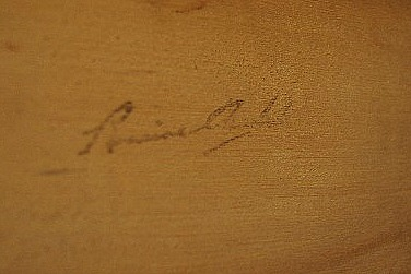 Relief Carving of a Deer. Audet script.