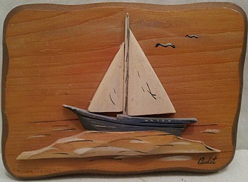 Rosaire Audet. Applied Relief' Carving.