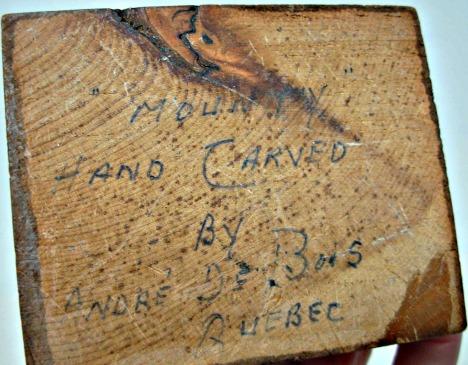 Debois Mark. Mounty Wood carving.