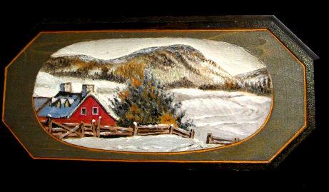 Bert Lancaster. Relief Carving. Quebec. 1940's.